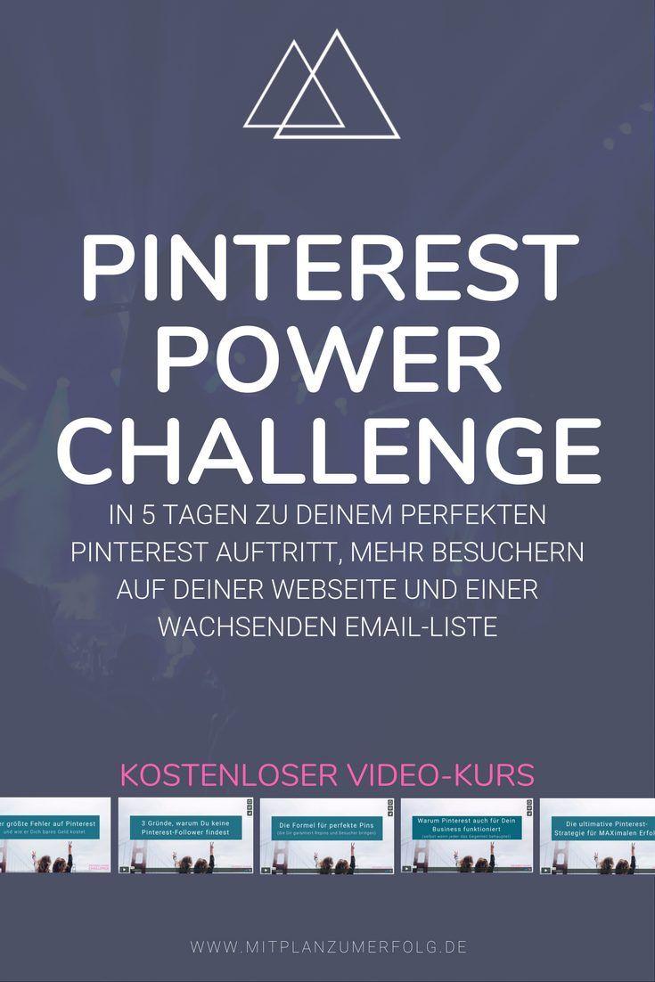 Kostenloser Video-Kurs: Pinterest-Power-Challenge (mit ...