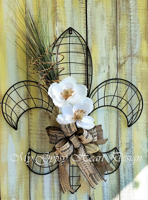 Extra large fleur de lis custom order per request interiorexterior