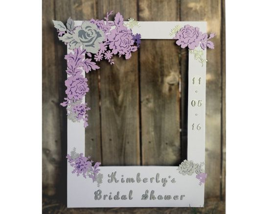 Bridal Shower Giant Photo Booth Frame Prop Lavender Purple And