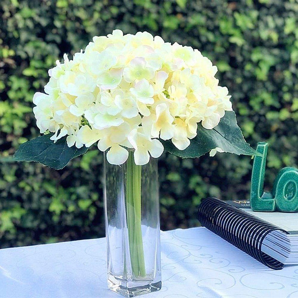 Enova Home Blush Artificial Hydrangea Flower Bouquet With Glass Vase Multi Colore Artificial Flower Bouquet Artificial Hydrangea Flowers Artificial Hydrangeas
