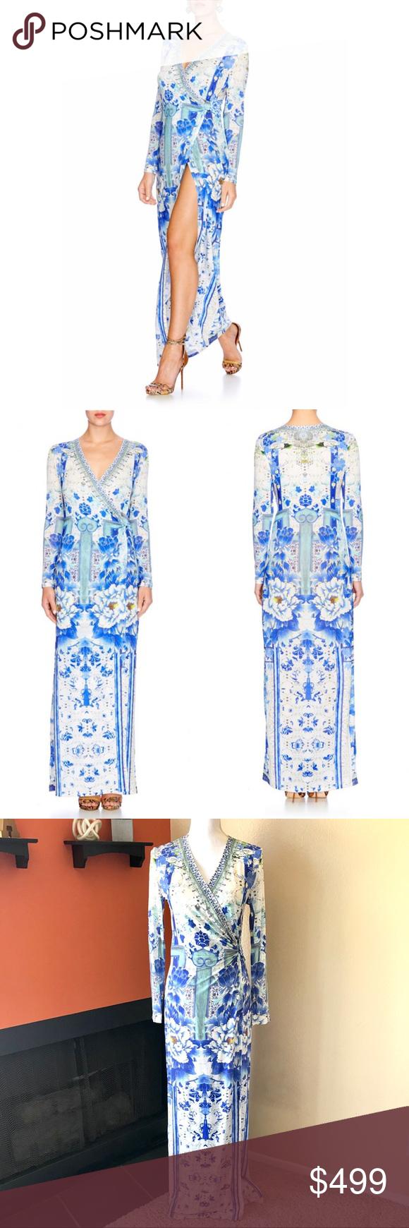 NEW Camilla Porcelain Paradise Wrap Dress M Camilla Porcelain paradise wrap  dress Size XS new with 9d84409bfa2