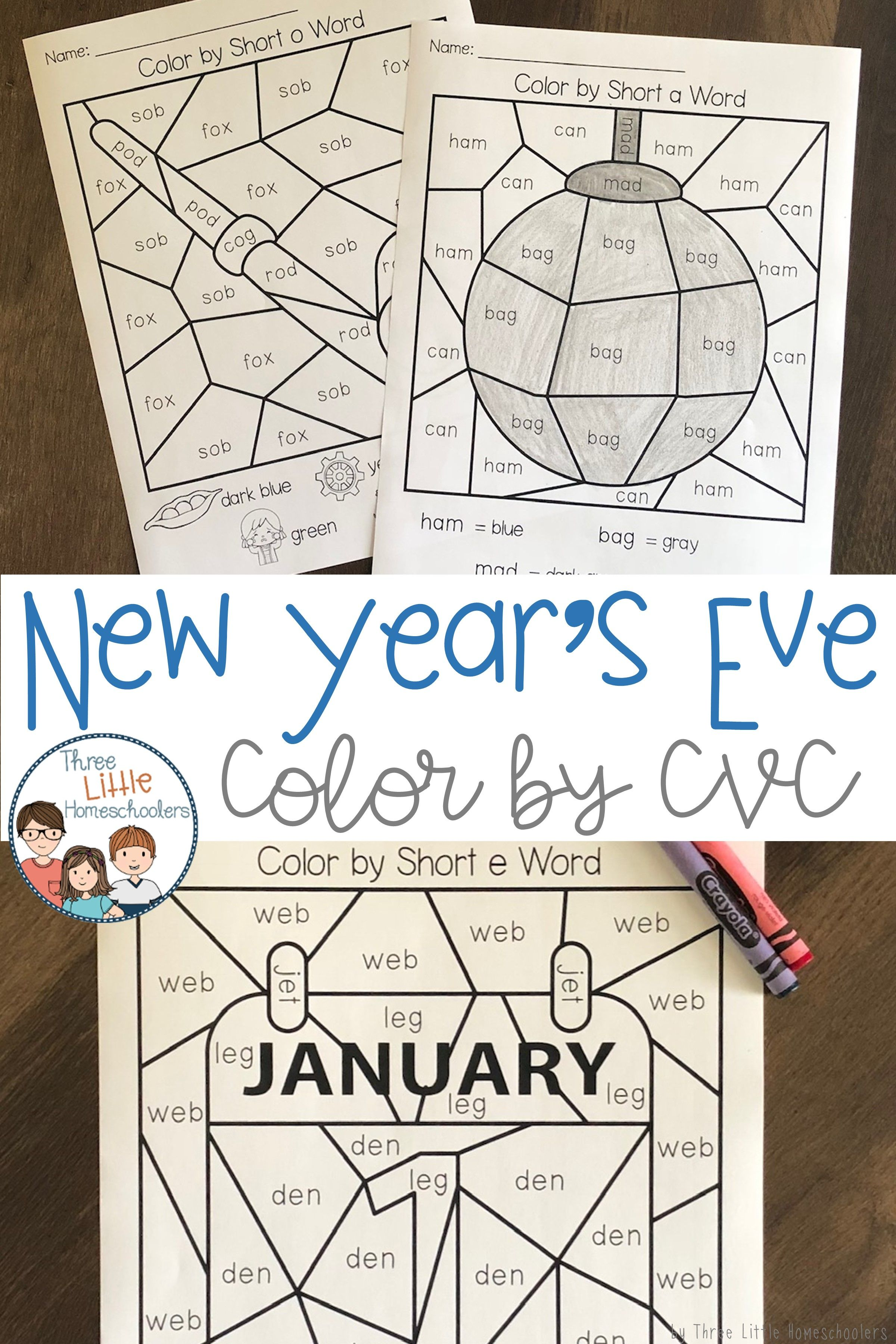New Year Color By Cvc Word