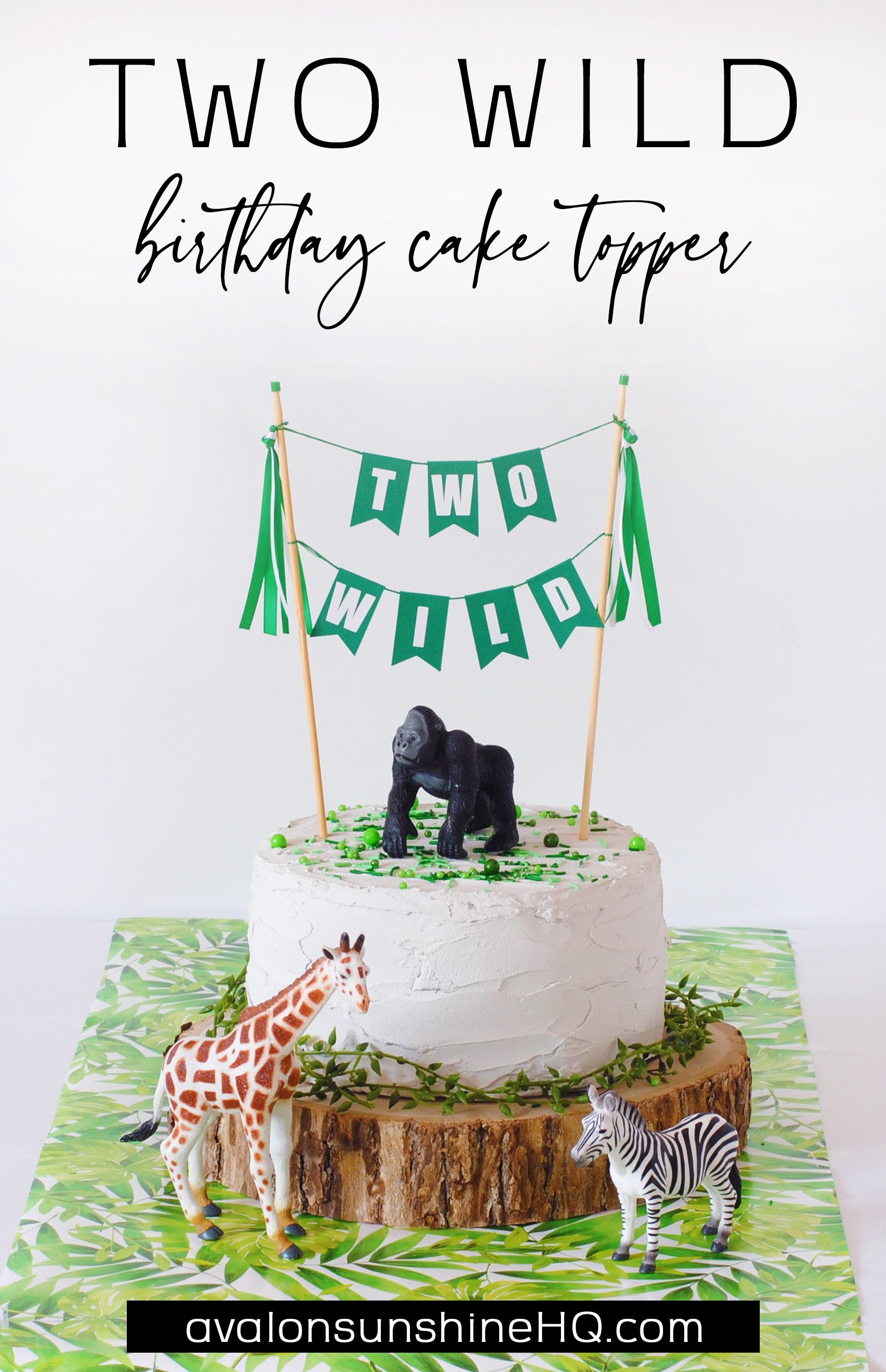 Two wild cake topper in 2020 toddler birthday cakes
