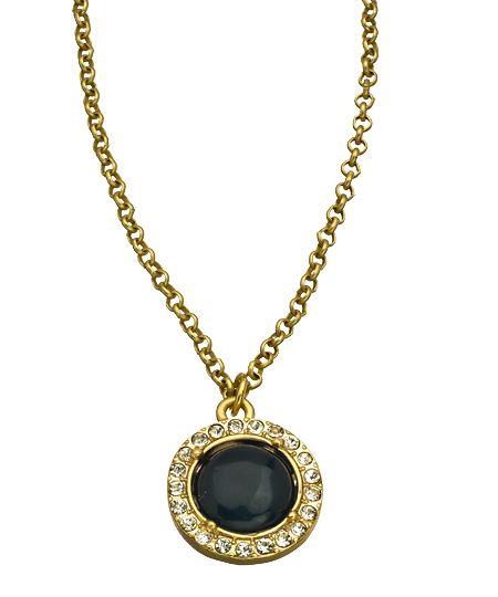 Blu Bijoux Black and Crystal Reversible Pendant Necklace