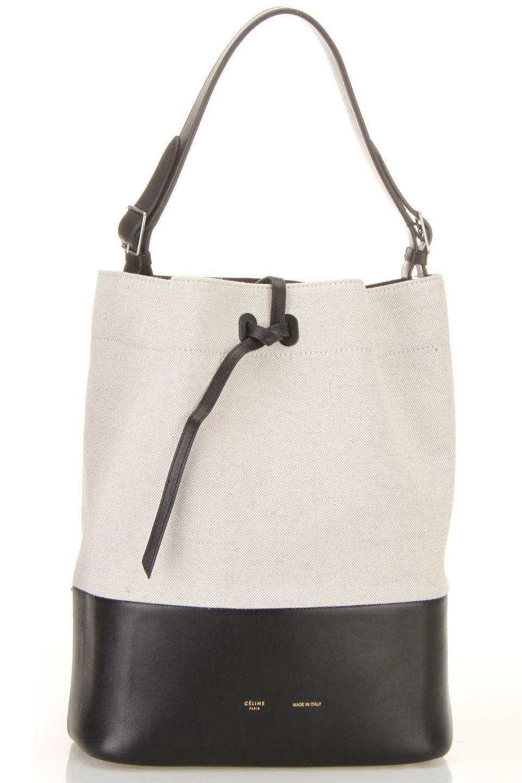 Celine Small Drawstring Shoulder Bag In Cream For The