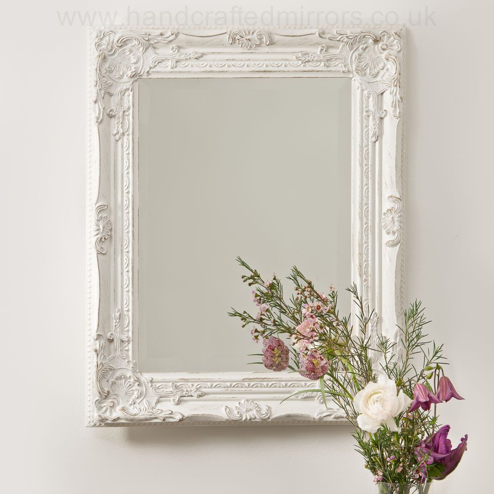 My Bedroom Vintage Shabby Chic White Cream French Ornate Wall Mirror Rococo Country Wedding Handcraftedmirrorscouk