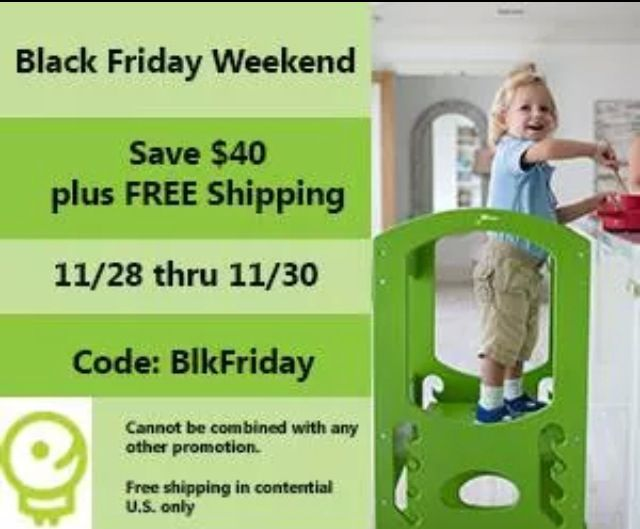 Save today #blackFriday!! $40 off plus free shipping! #learningtower