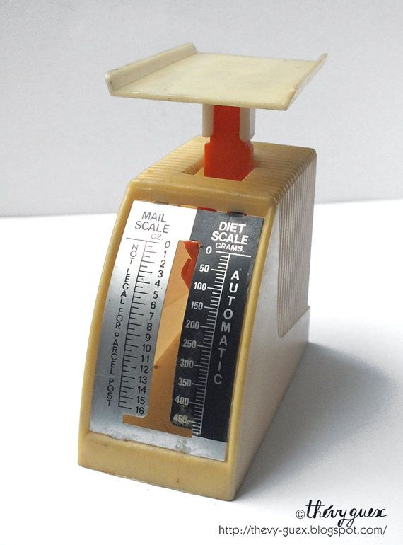 Vintage 70s diet postal mail scale, Postal scale, Diet cale