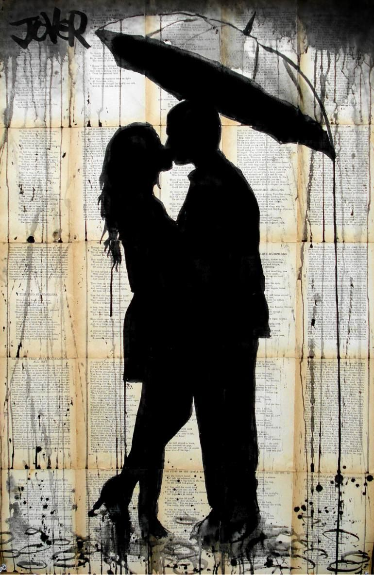 "Saatchi Art Artist Loui Jover; Drawing, ""rain lovers"" #art"
