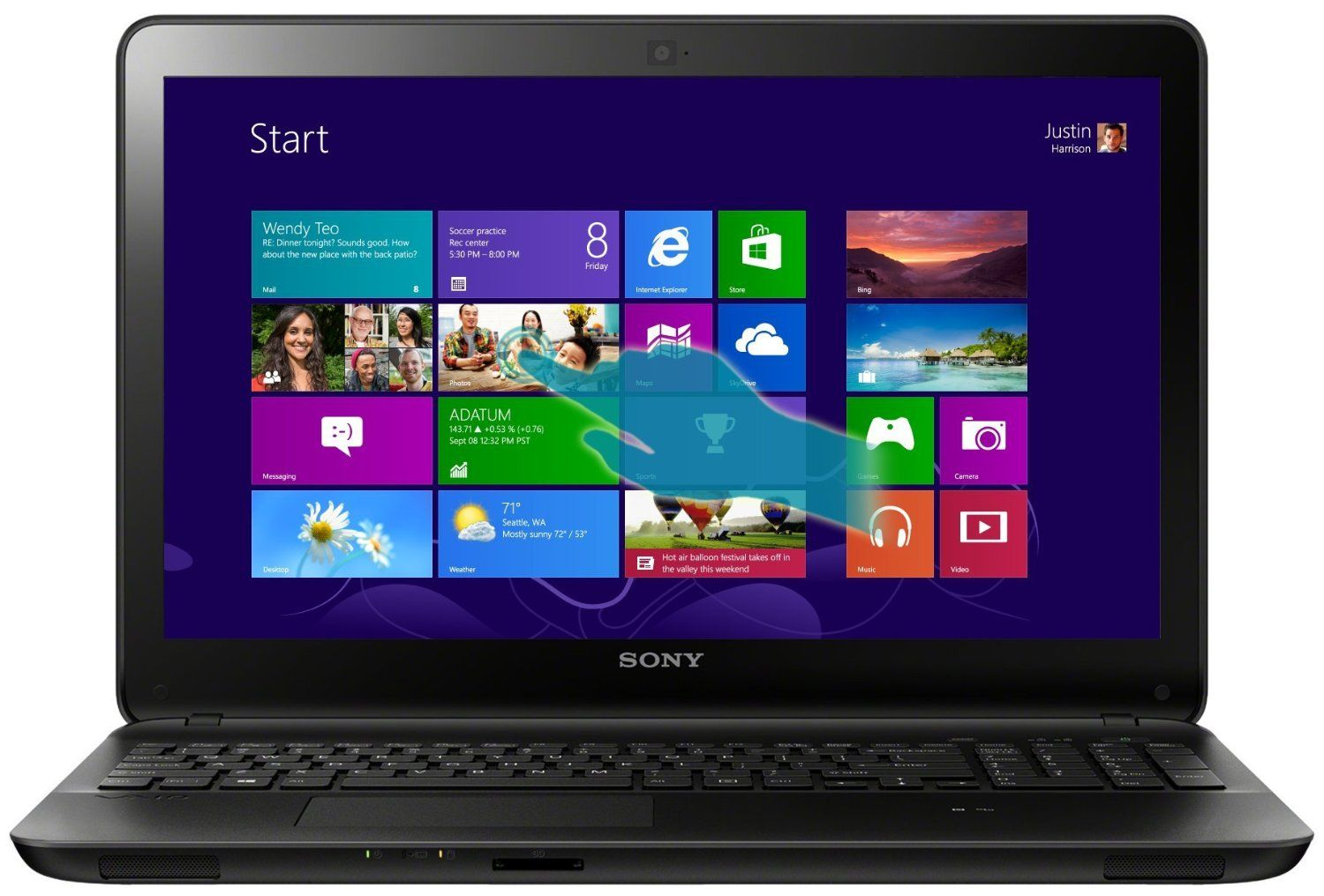 aa8aa5b54c38 Sony VAIO Fit Series SVF15215CXB 15.5-Inch Core i5 Touch Laptop ...