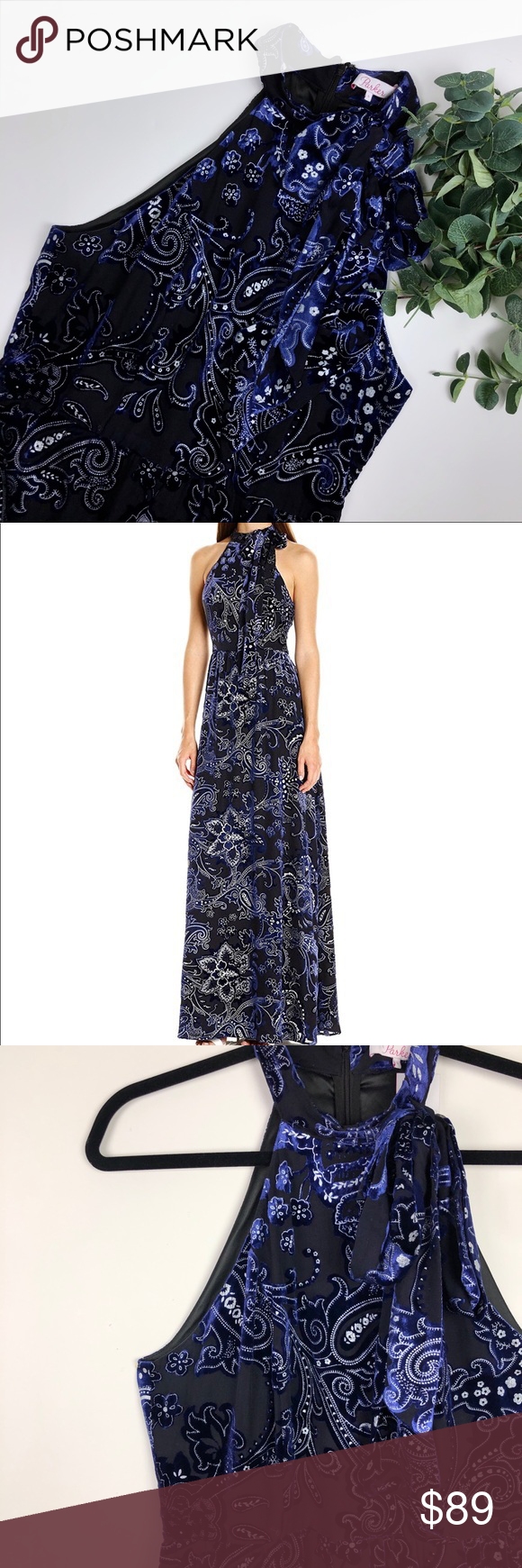 228039717f Parker Janelle Velvet Paisley Floral Maxi Dress Brand new with tags!  Measurements available upon request