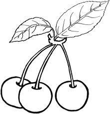 Cherries Boyama Sayfalari Meyve Ve Aplike Desenleri