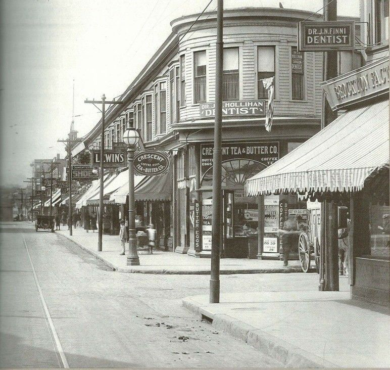 Old New Bedford Acushnet Ave Coggeshall Street In The 1920s New Bedford Bedford Massachusetts Local History