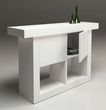 DGC Morgan Hall Table In High Gloss White DG Furniture
