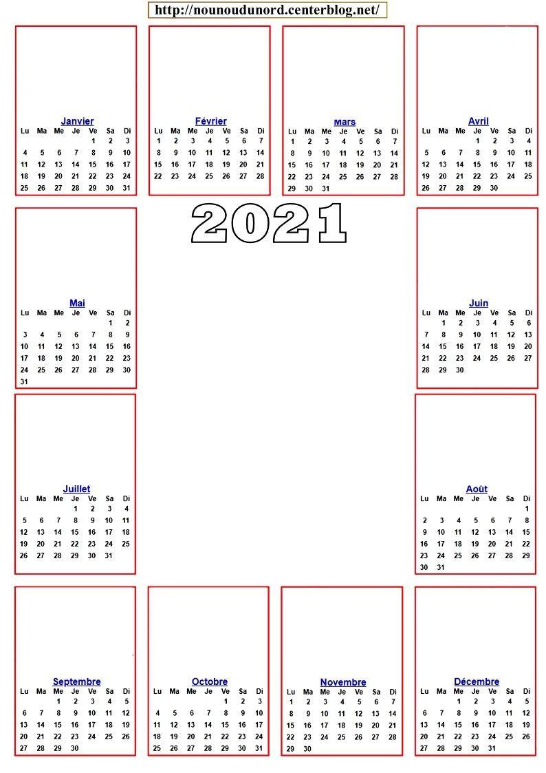 calendrier 2021 ajouter des dessins ou des gommettes en 2020