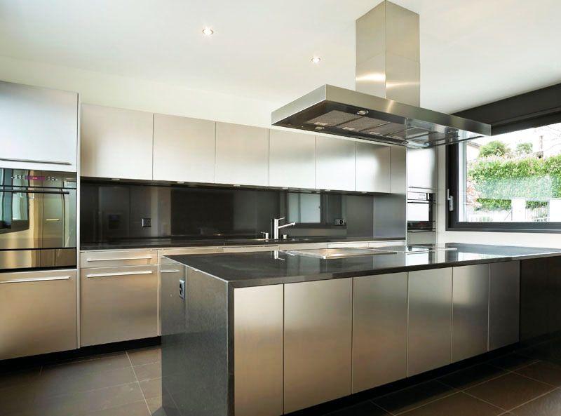 Black Metal Kitchen Cabinets Photo 2 Metal Kitchens Steel