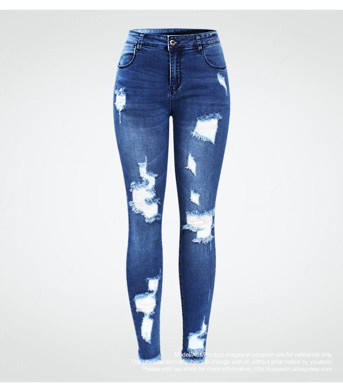 9aa0a7bd865 Blue Ripped Jeans 30 DAY RETURN GUARANTEE FREE SHIPPING - Social Ads  Atlanta #jeans #jeansripped #denim #denimjeans