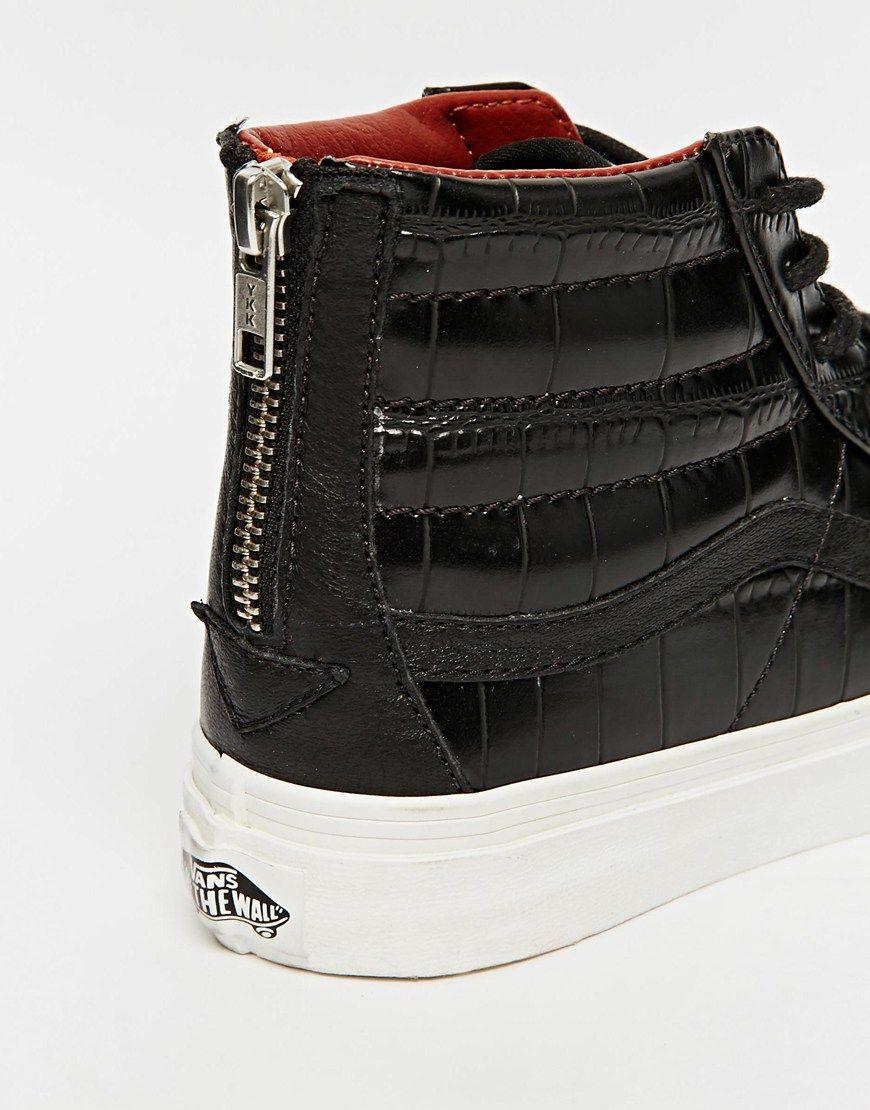 vans sk8 hi top leather