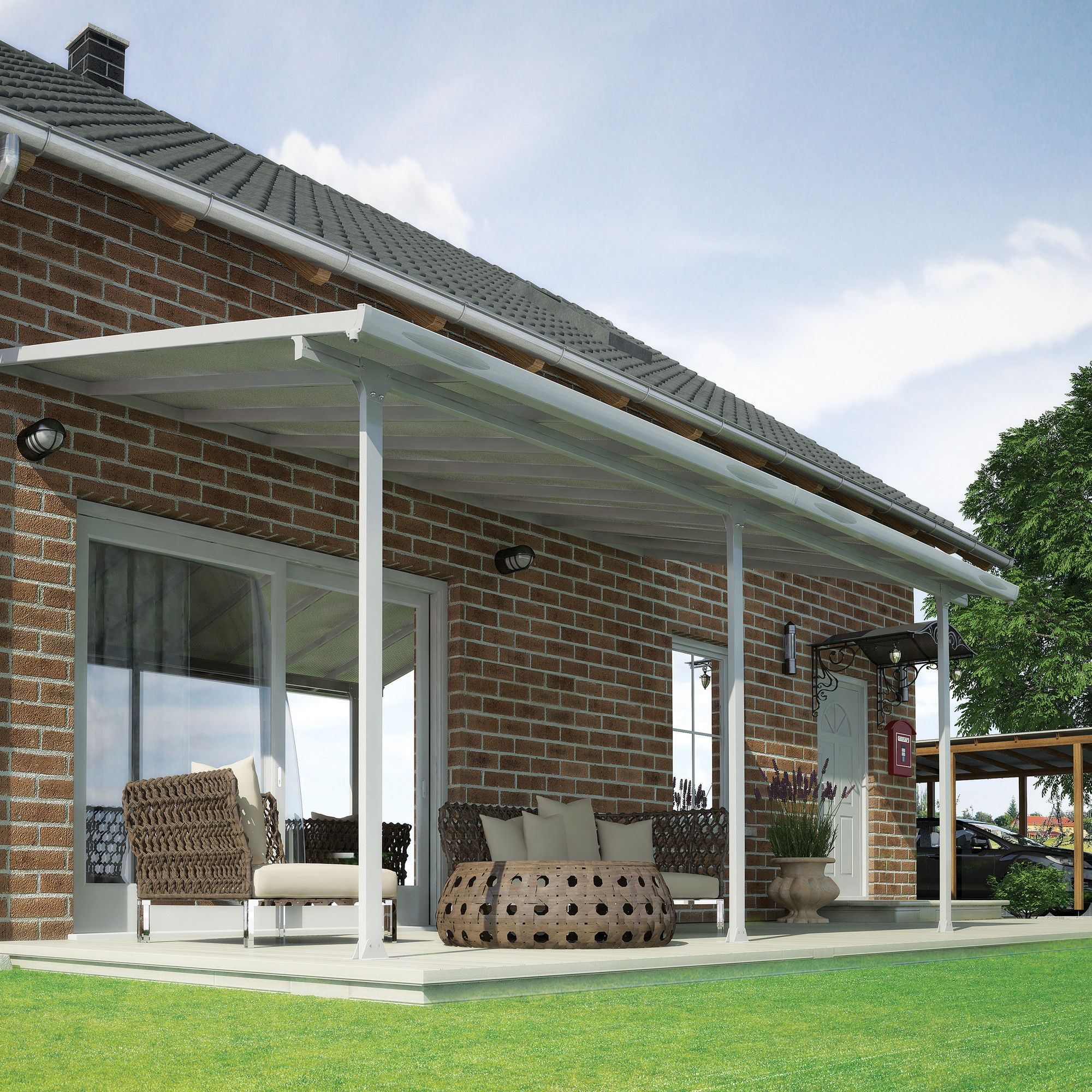 Feria™ 10 ft H x 28 ft W x 10 ft D Patio Cover Awning