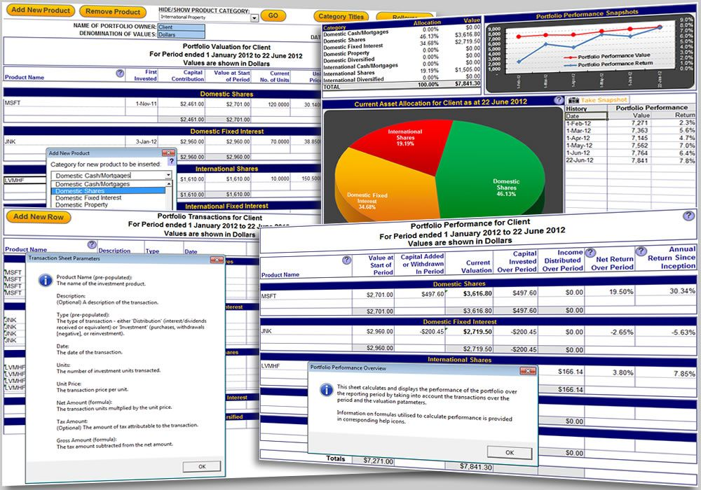The Excel Portfolio Performance Tracking Template Allows The