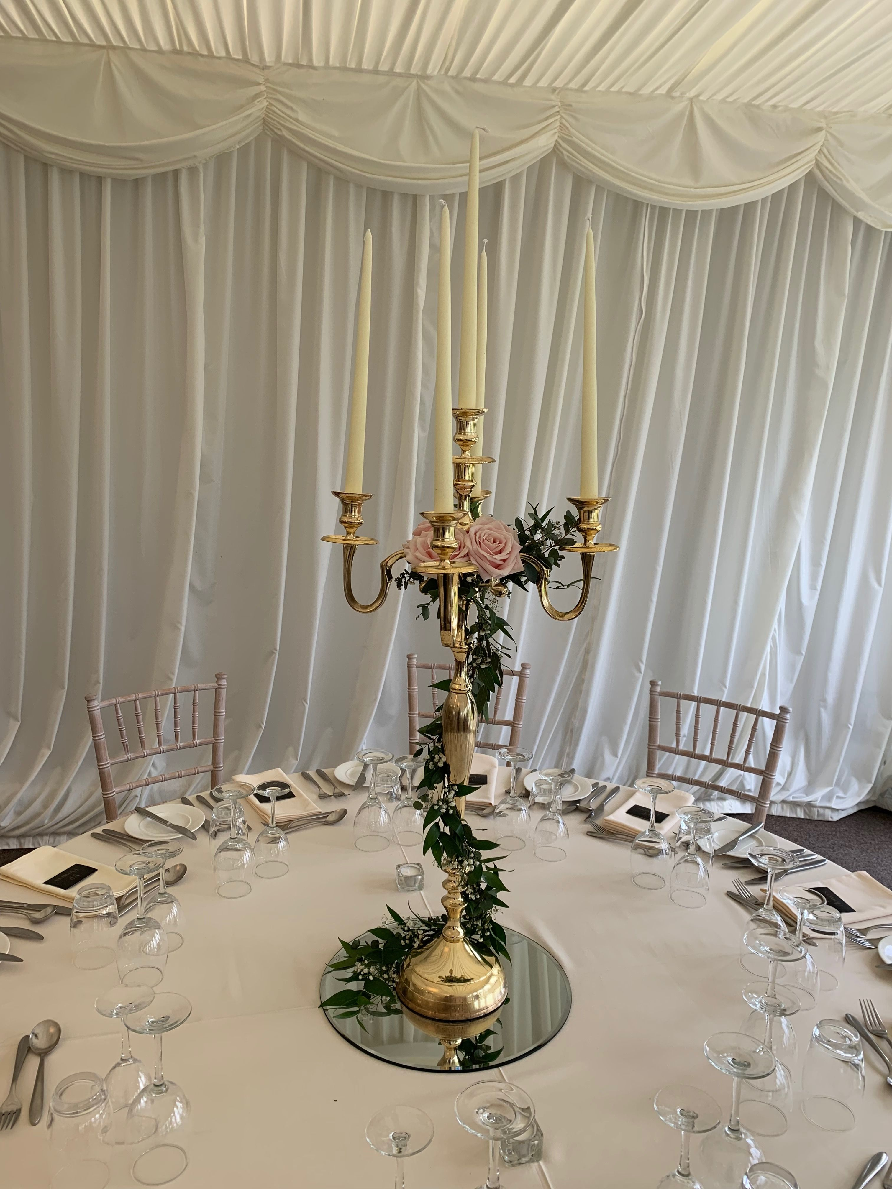 Pin by VP Flowers on Candelabras Table settings, Decor