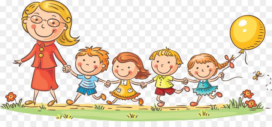 الطفل المعلم الكرتون رياض الأطفال المدرسين والأطفال تحميل شفاف Png Tekenen