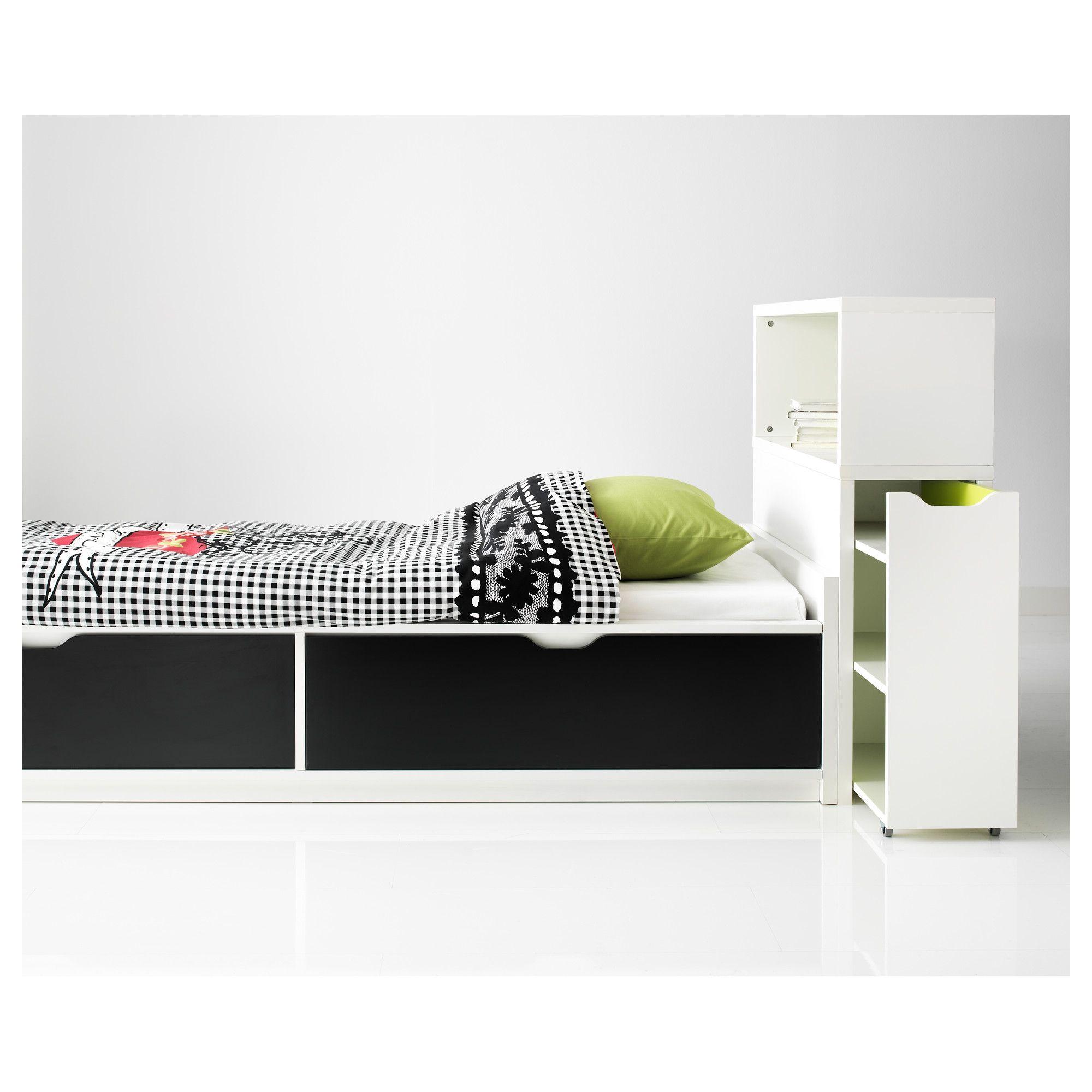 FLAXA estructura cama 90 con almacenaje inferior + somier láminas ...