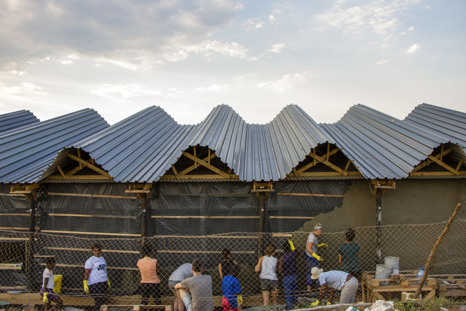 Gallery Of Silindokuhle Preschool Collectif Saga 5 Roof Architecture Africa Roofing