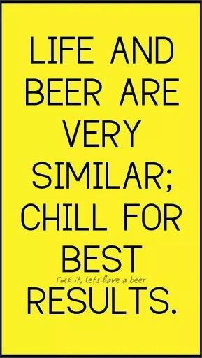 Life And Beer Are Very Similar Chill For Best Results Craft Beer