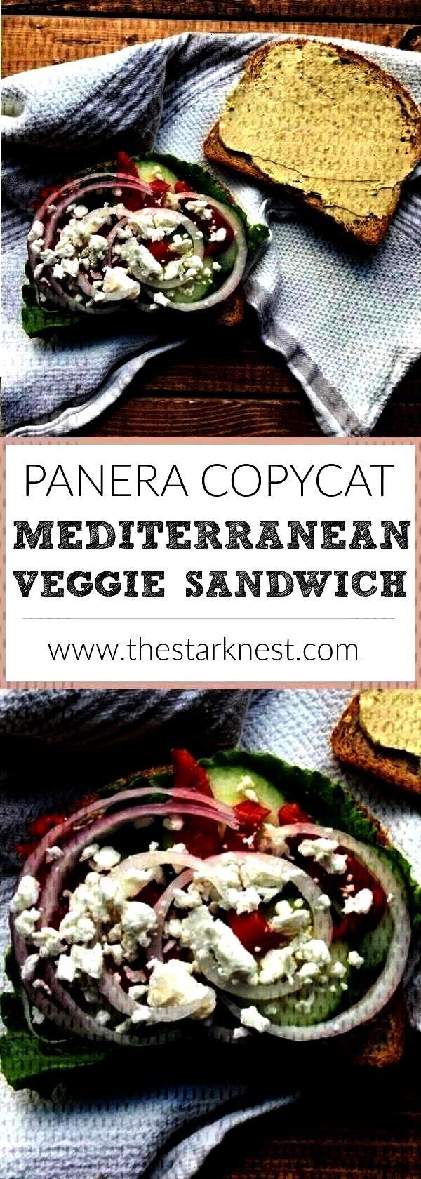 Mediterranean Veggie Sandwich | The Stark Nest - Lunch -Panera Bread Inspired Mediterranean Veggie