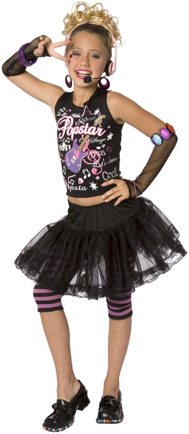 child 80s punk rock star costume for girls in 2018 | costumes