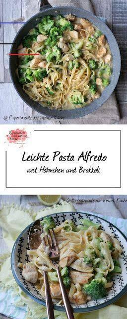 Leichte Pasta Alfredo mit Hähnchen und Brokkoli Leichte Pasta Alfredo mit Hähn…