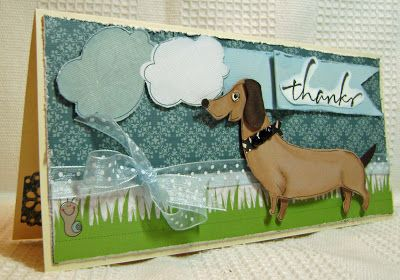 Cute weiner dog made for special customer using WeR Memory Keepers collection