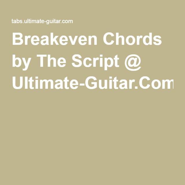 breakeven -1 | chords | Pinterest
