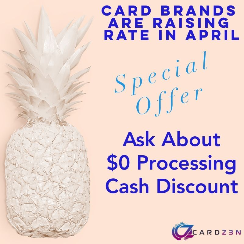 ***Alert*** Credit Card Rate Increase! Major Card Brands Raising Rates in April. Ask about or $0 Processing / Cash Discount Program   #creditcardprocessing #fees #save #smallbusiness #localbusinesses #smallbusinesses #retail #pizza #salon #storefront #store