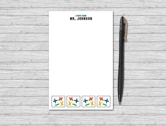 math notepad personalized note