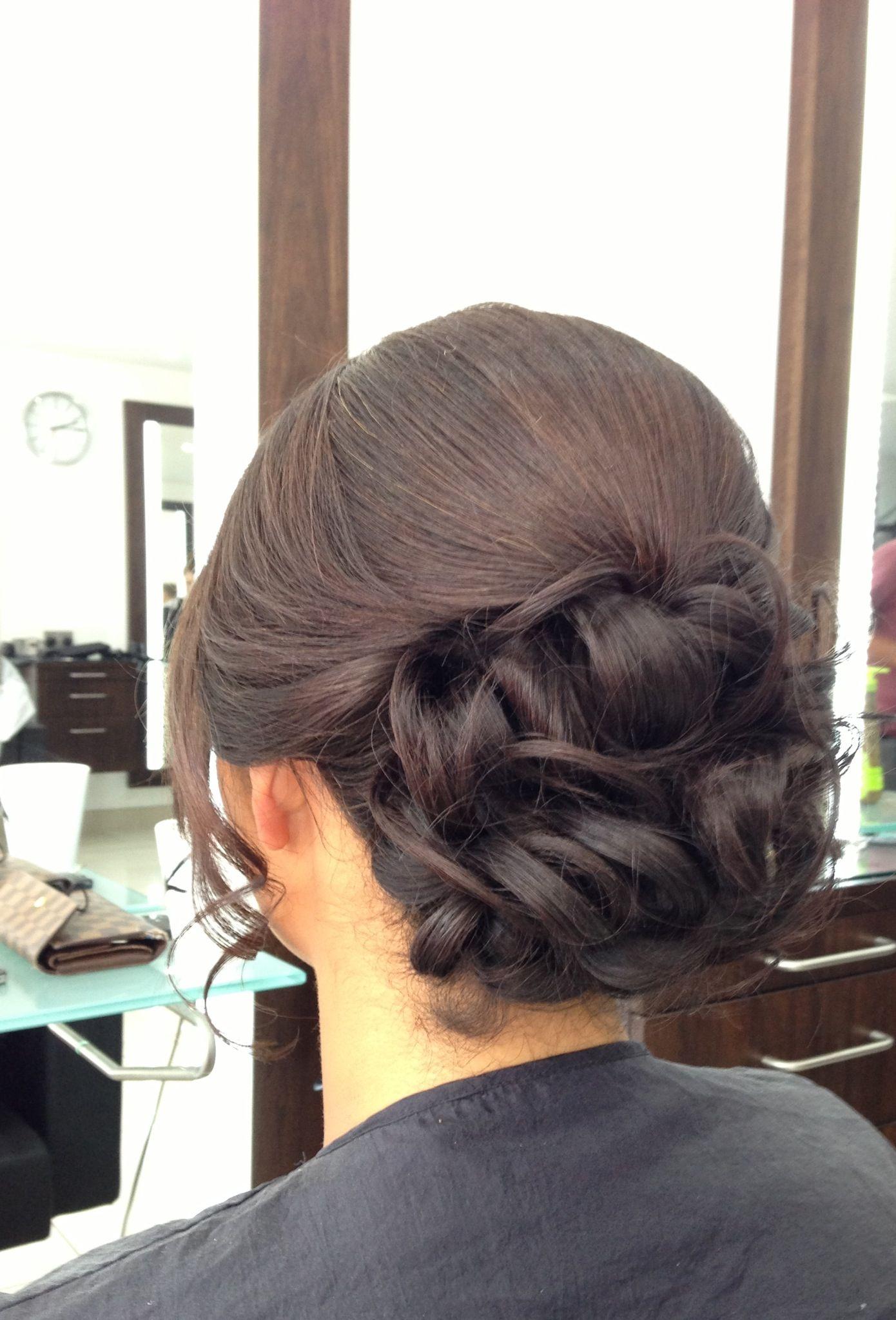 brunette wedding updo occasion hair up | cabelo de