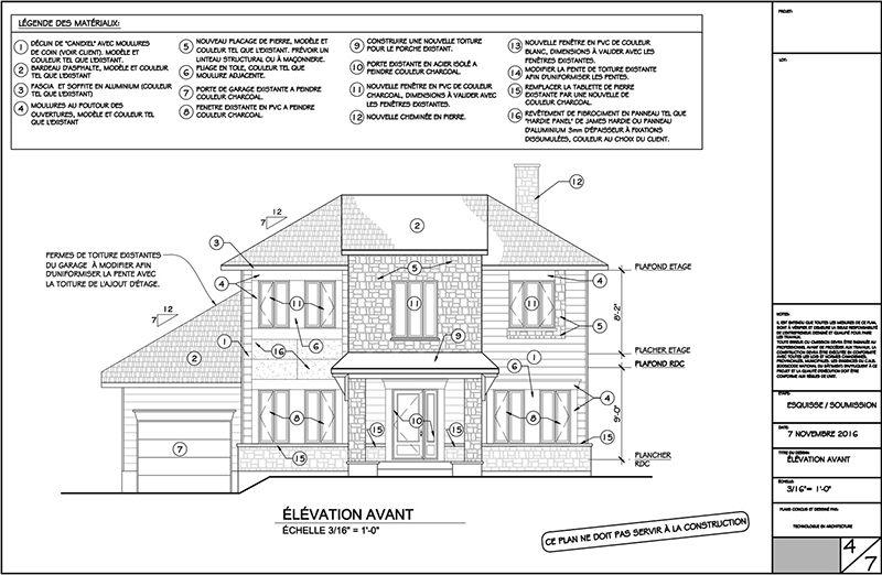 Exemple de plans pour ajout du0027étage (page 4) 4- plan agrandissement