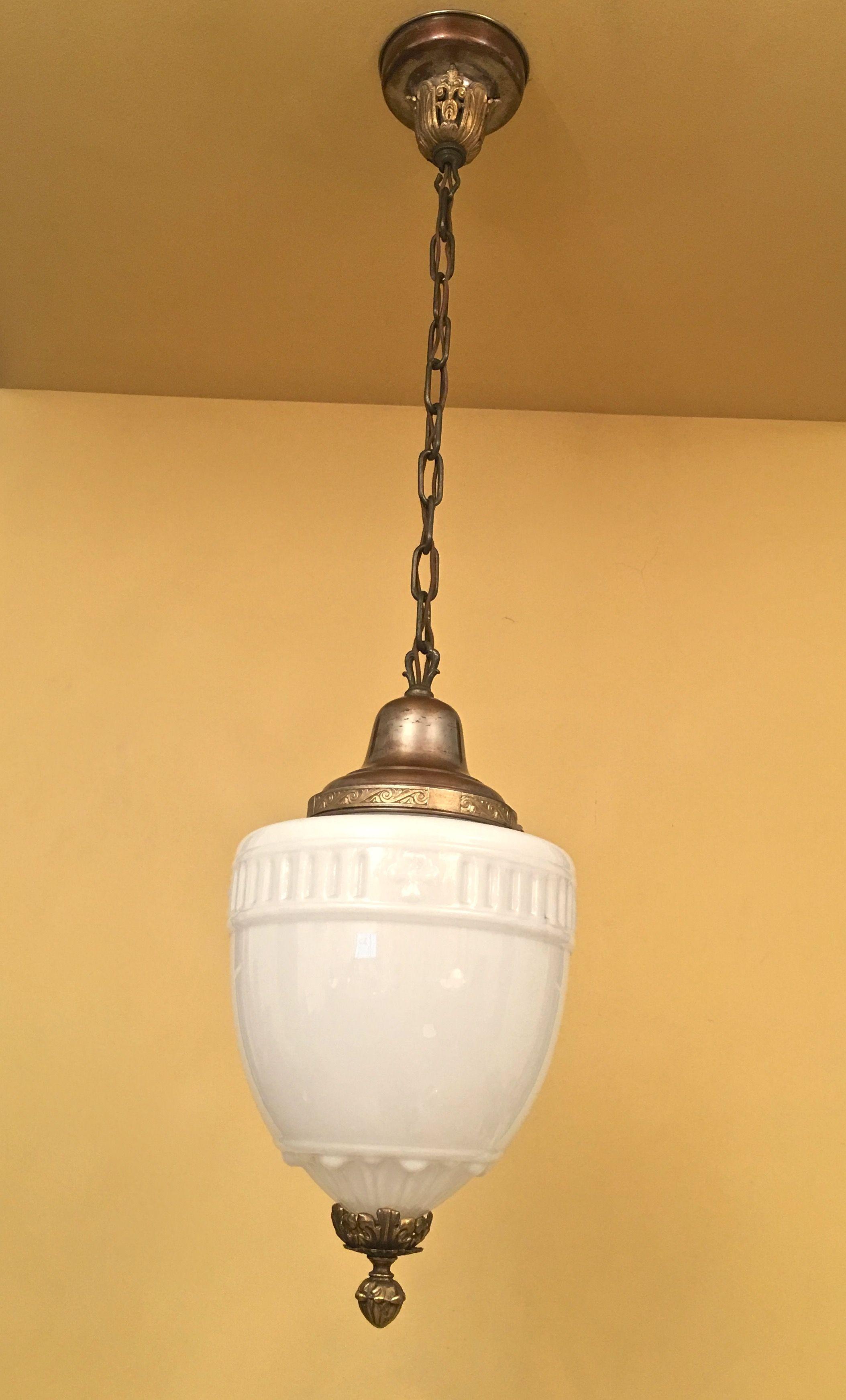 1920s foyer stairhall restored in 2020 Antique lighting
