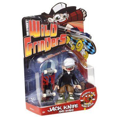 2240f0d4fc4ff Amazon.com: Rob Dyrdek's Wild Grinders Jack Knife and Board Series 2 ...