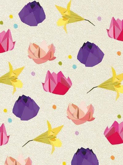 love this origami like floral from maevi colomina