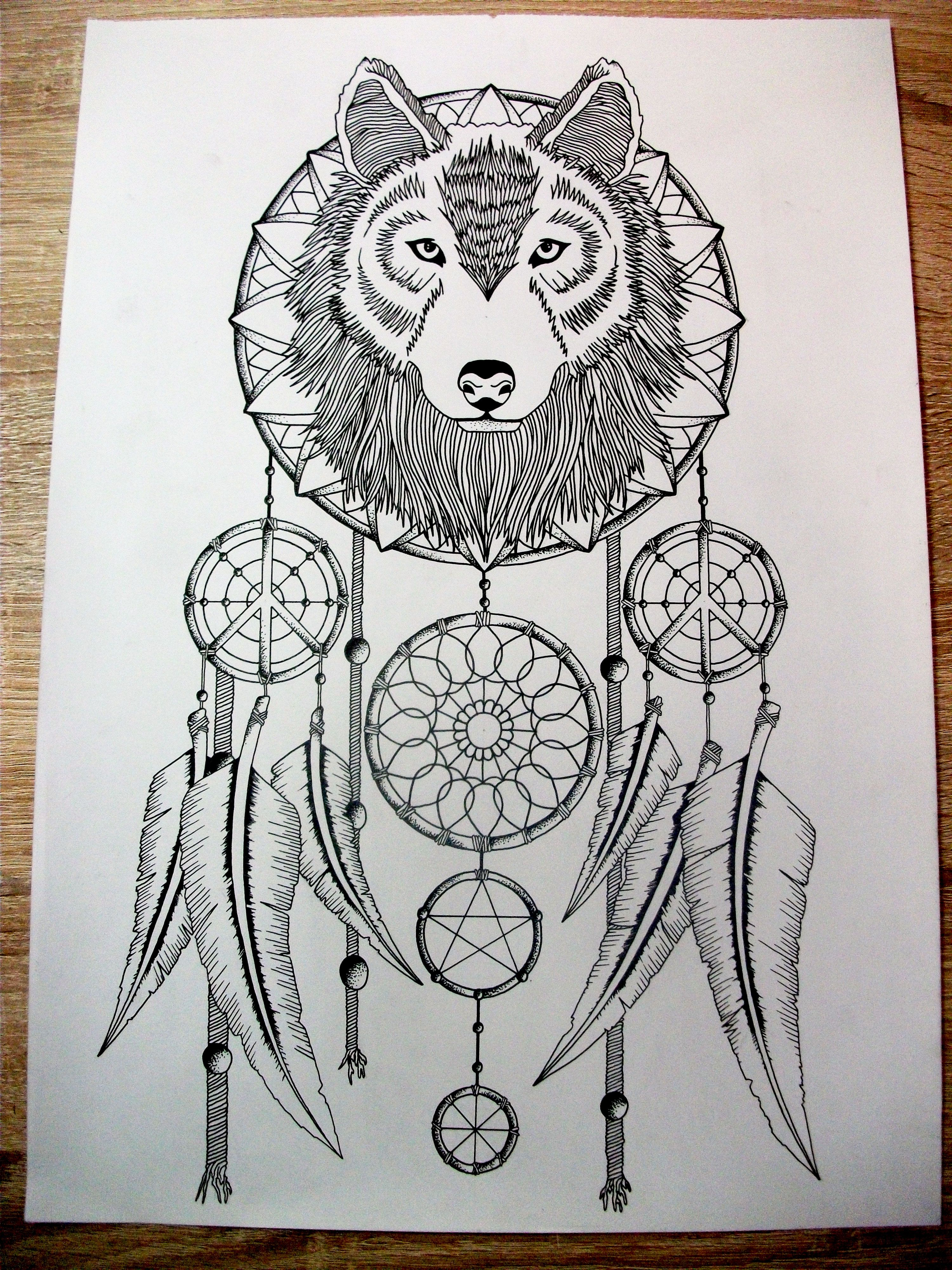 Wolf tattoo dreamcatcher - photo#45