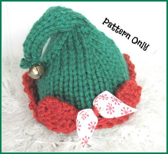 Elf Hat Knitting Pattern Sized Newborn Baby Child And Adult Elf