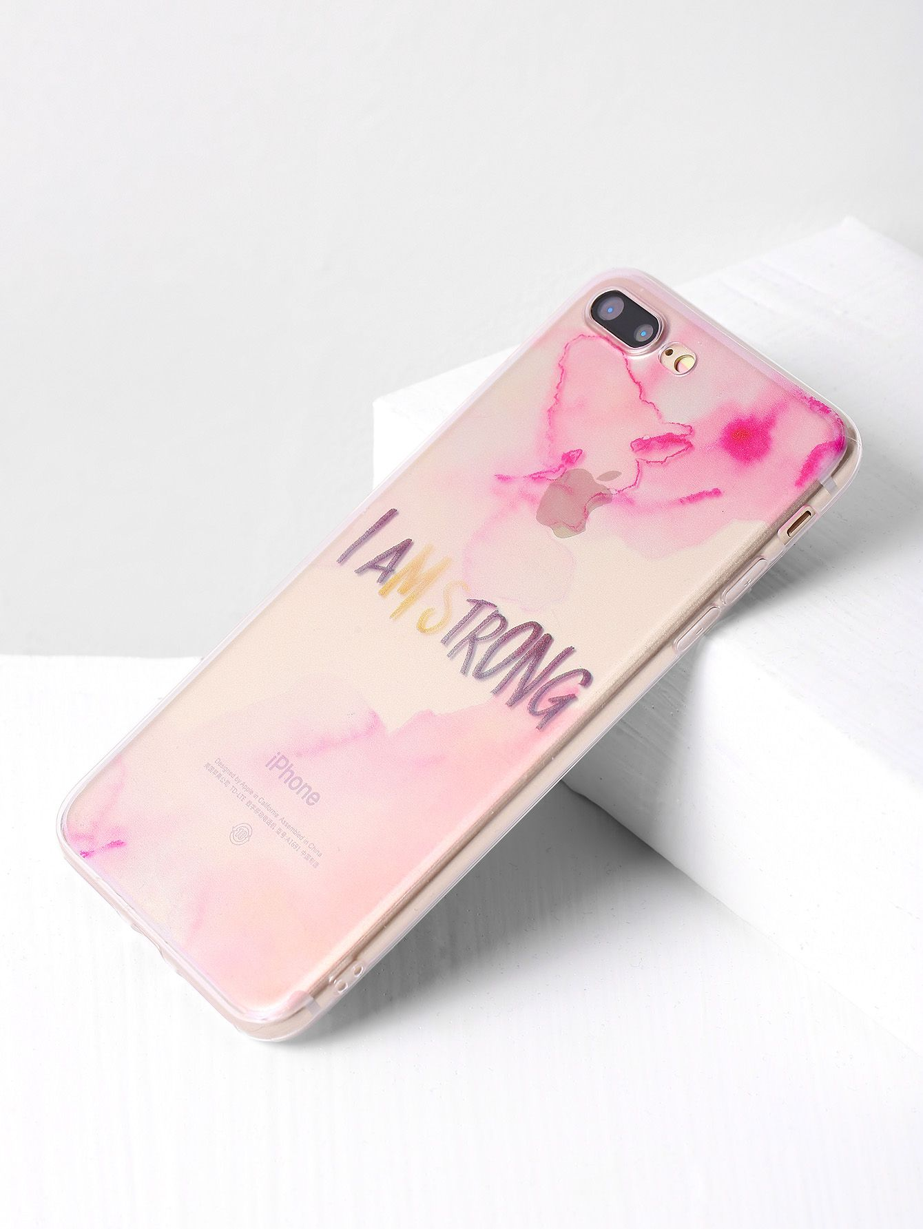 4c03e53e09 Shop Letter Print Clear iPhone 7 Plus Case online. SheIn offers Letter  Print Clear iPhone 7 Plus Case & more to fit your fashionable needs.