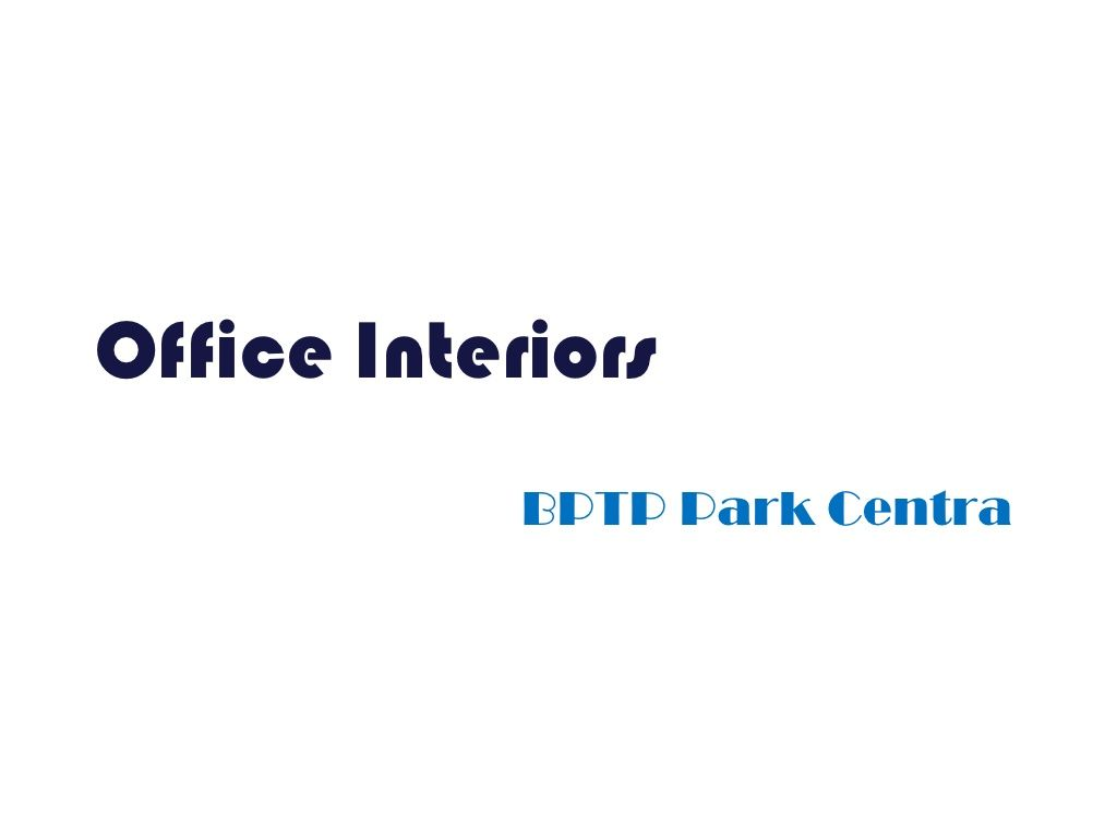 interiors-office-space by Infratech Housing via Slideshare