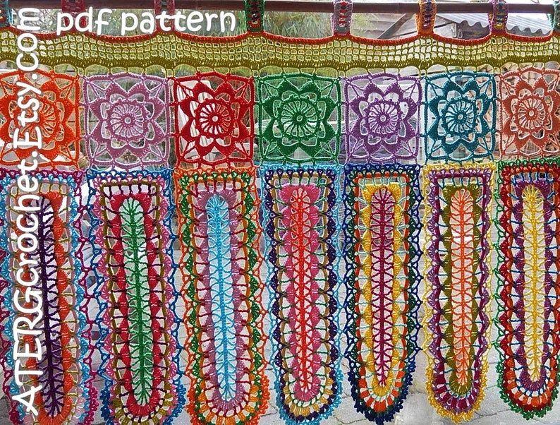 Crochet Pattern Boho Curtain Panels By Atergcrochet Antik