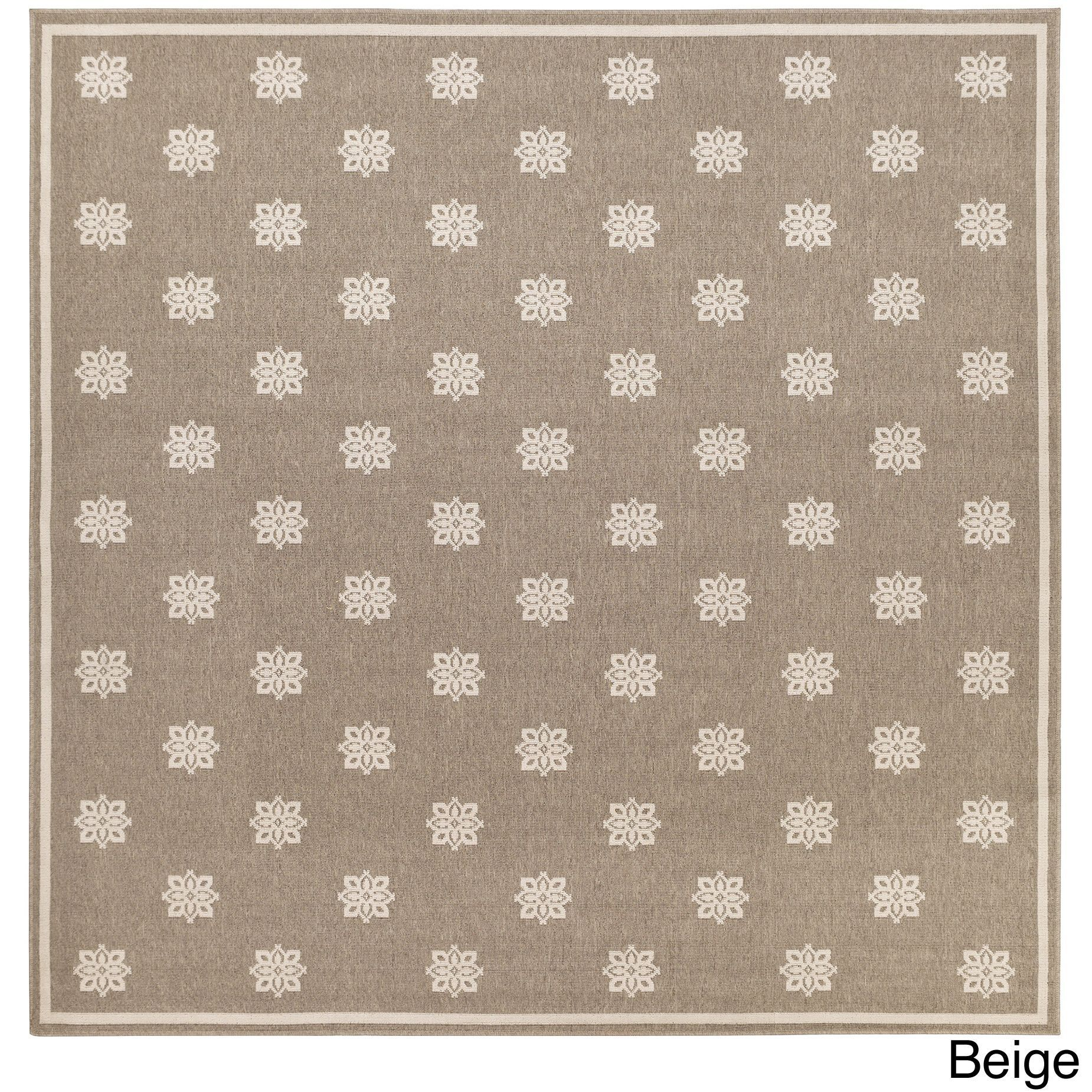 Meticulously Woven Jenna Contemporary Fl Indoor Outdoor Area Rug 7 3 Square