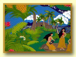Hawaiian fabric design