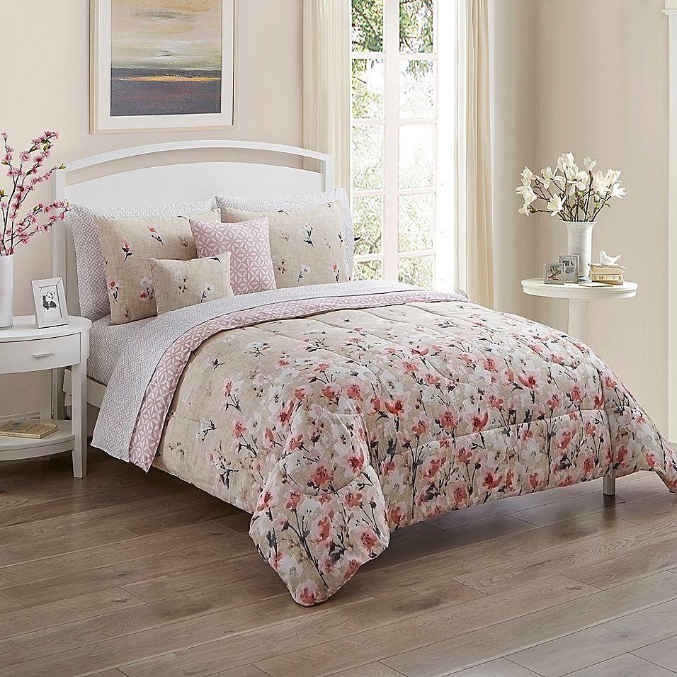 Rose Garden 9 Piece King Comforter Set Multi In 2020 Comforter