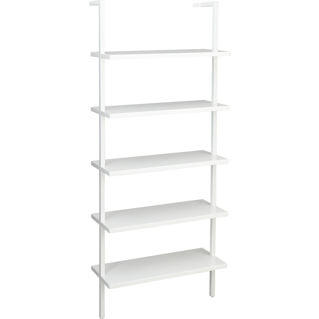 stairway white 72 5 wall mounted bookcase wall mounted on wall mount bookshelf id=74733